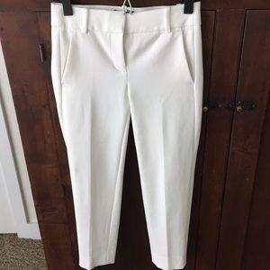 White cropped dress pants